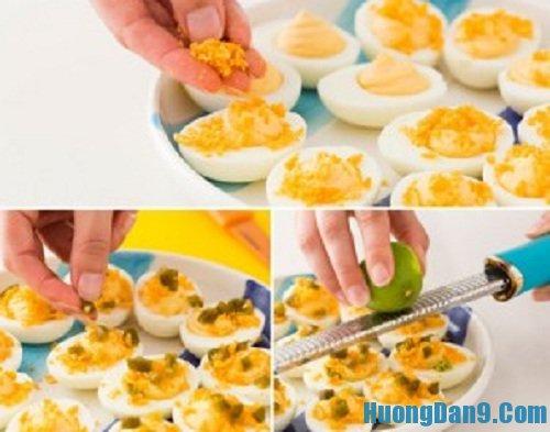 Thành phẩm sau khi thực hiện cách làm trứng mimosa thơm ngon