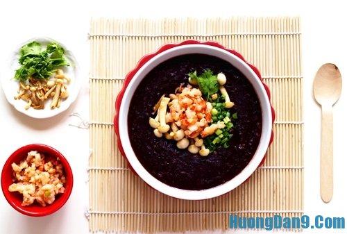 Hướng dẫn cách nấu cháo tôm nếp cẩm thơm ngon bổ dưỡng