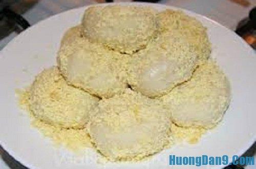 Thành phẩm sau khi thực hiện cách làm bánh dày nhân đậu xanh hấp dẫn