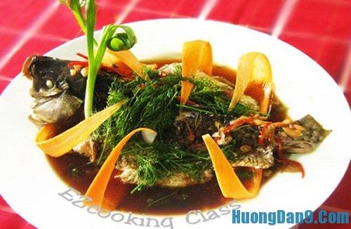 Hướng dẫn cách làm cá chép hấp xì dầu thơm ngon