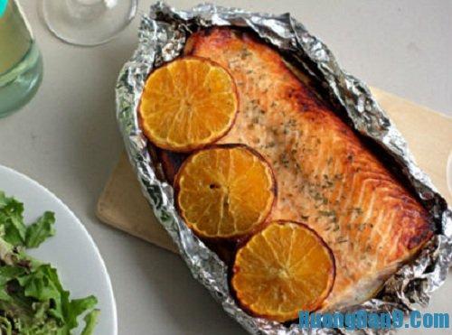 Hướng dẫn cách làm cá hồi nướng cam tuyệt ngon