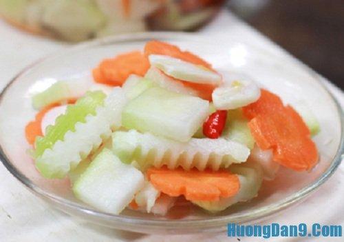 Hướng dẫn cách muối su hào cà rốt tại nhà