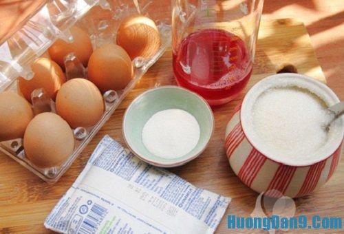 Nguyên liệu chuẩn bị thực hiện cách làm thạch siro mận nhân bánh flan