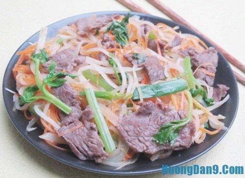 Hướng dẫn cách làm thịt bò xào củ cải khô ngon đậm vị