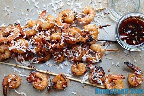 Thành phẩm sau khi thực hiện cách làm tôm nướng kiểu Thái ngon bổ dưỡng