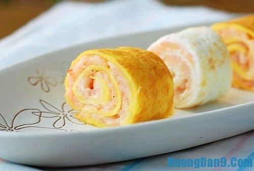 Hướng dẫn cách làm trứng cuộn thịt gà thơm ngon hấp dẫn